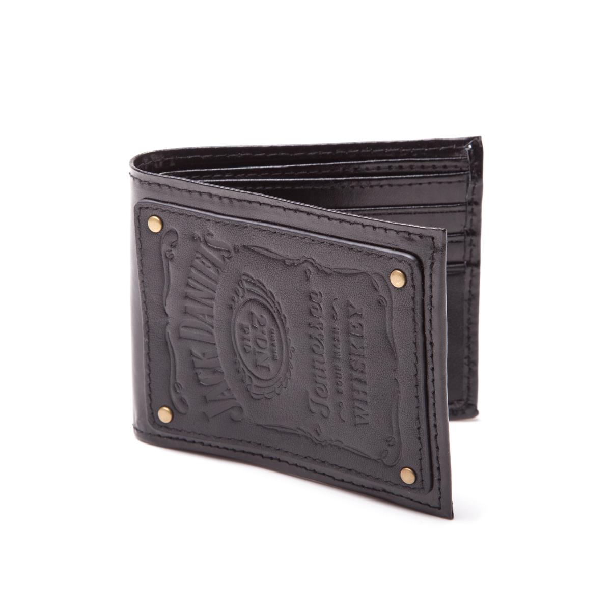 Jack Daniel's Bifold Wallet Leather Patch