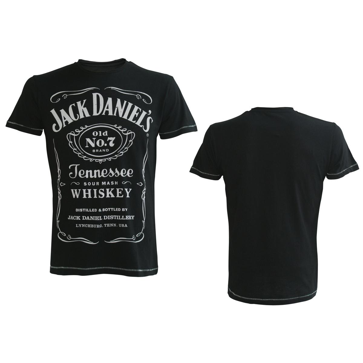 Jack Daniel's Black Mens Tee Classic Logo XS