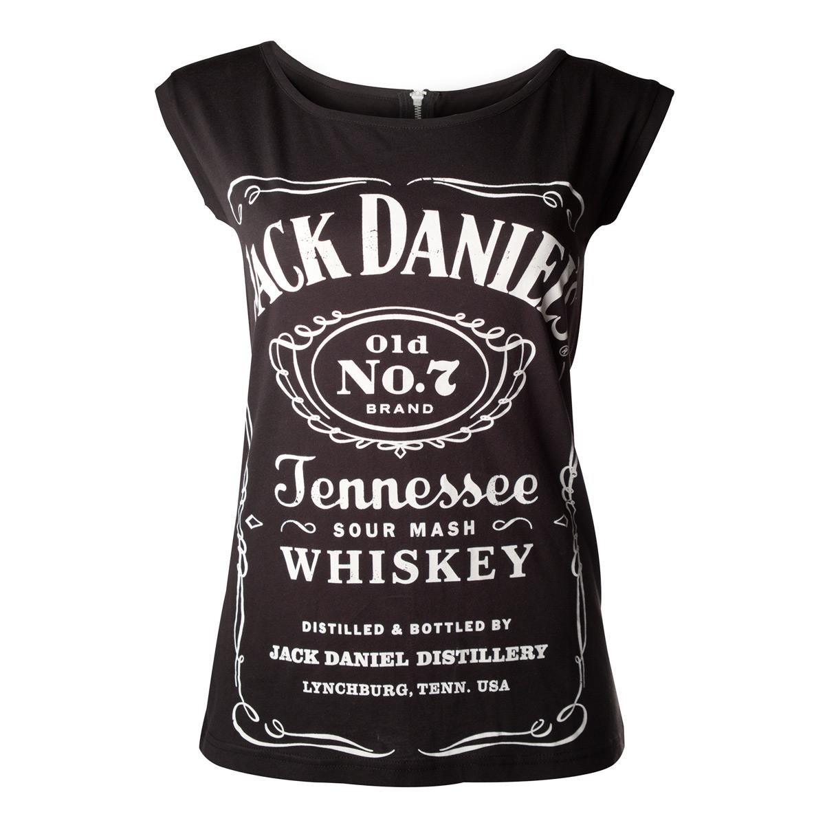 Jack Daniel's Womens Shirt With Back Zipper